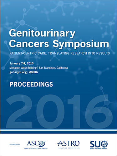 2016 Genitourinary Cancers Symposium Proceedings