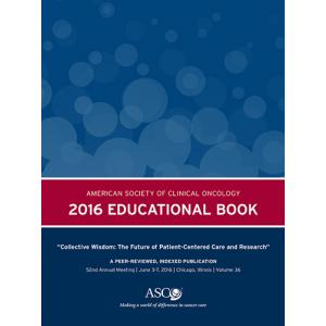2016 ASCO Educational Book