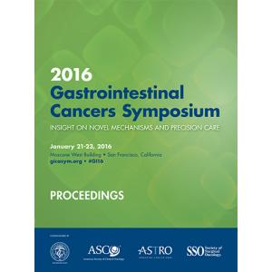 2016 Gastrointestinal Cancers Symposium Proceedings