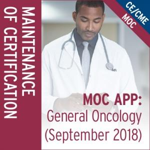 MOC App: General Oncology (September 2018)