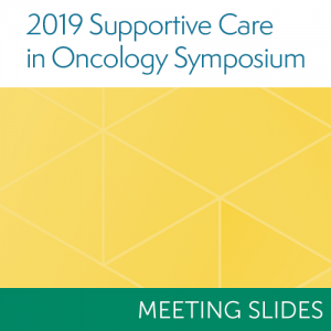 2019 Supportive Care Symposium Meeting Slides
